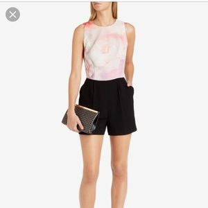 Beautiful Ted Baker London, Rose on Canvas romper,